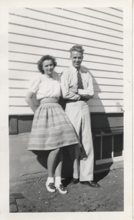 Marjorie Mae Thompson & Andrew Sheldon Gibson July 1942