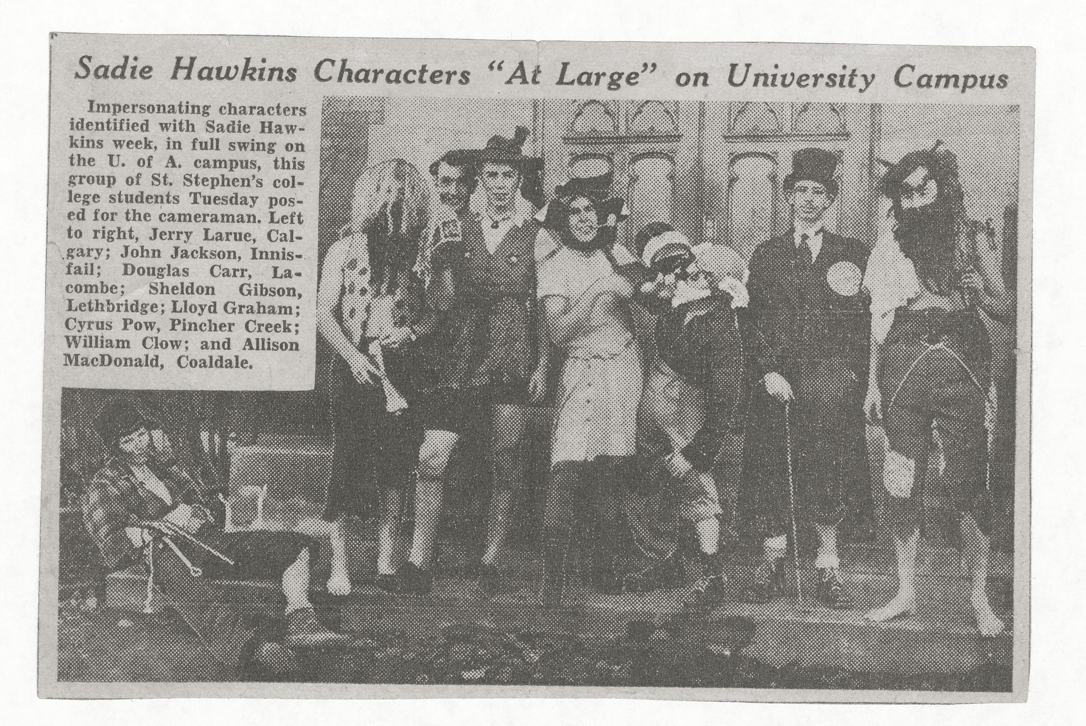 ASG 1943 Sadie Hawkins article